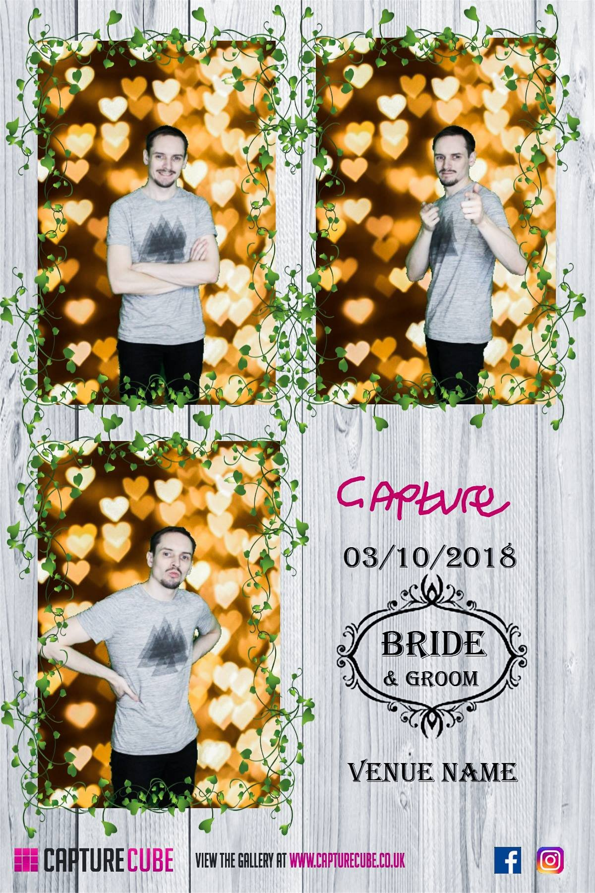 WEDDING WHITE WOODEN TEMPLATE